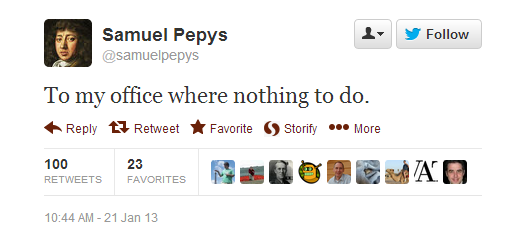 Pepys like the rest of us